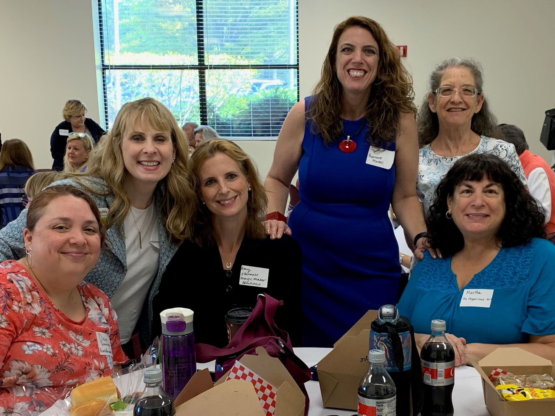 (left to right) Diane Greenhalgh, C. Lee Cawley, Amy O'Donnell, J.J. Jackson, Judy Tiger, Martha Blumenthal